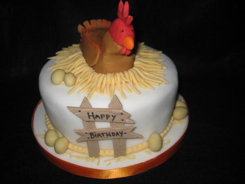 29 ảnh bánh sinh nhật hình con gà đẹp, bánh gato tuổi Dậu đẹp