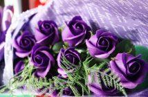 Bó hoa sinh nhật màu tím đẹp