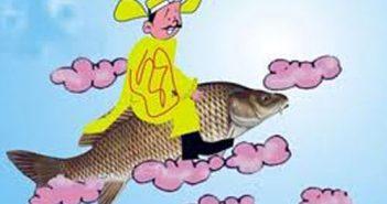 Hình ảnh Táo Quân cưới cá chép
