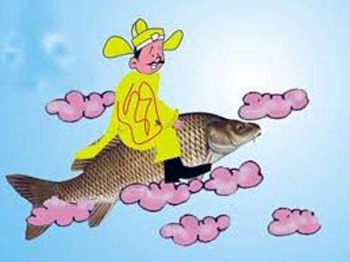 Tổng hợp những hình ảnh Táo Quân cưỡi cá chép đẹp nhất